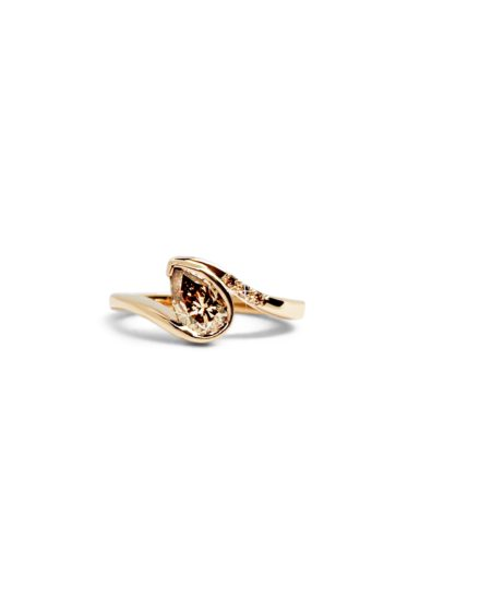 Rose gold ring with diamonds, Hans sandor nagy