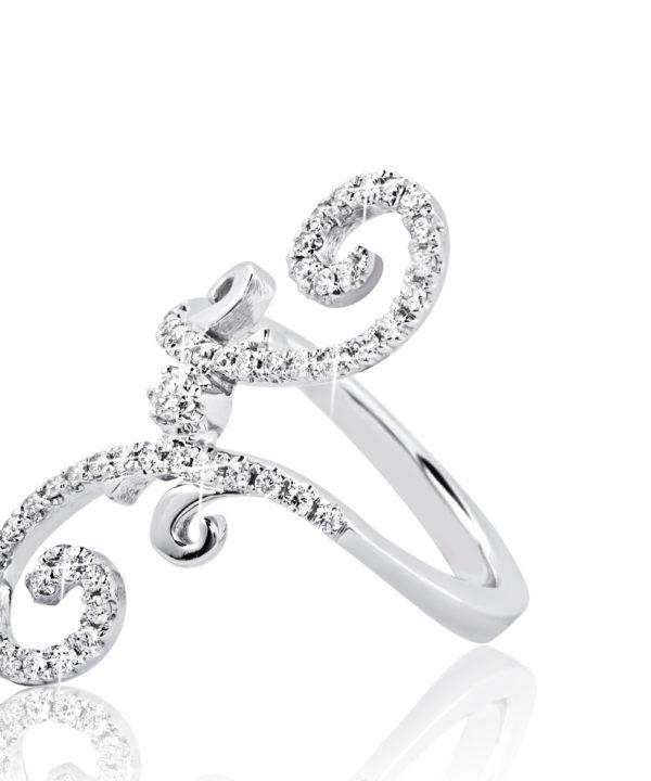 Wit gouden ring diamanten Hans Sandor Nagy