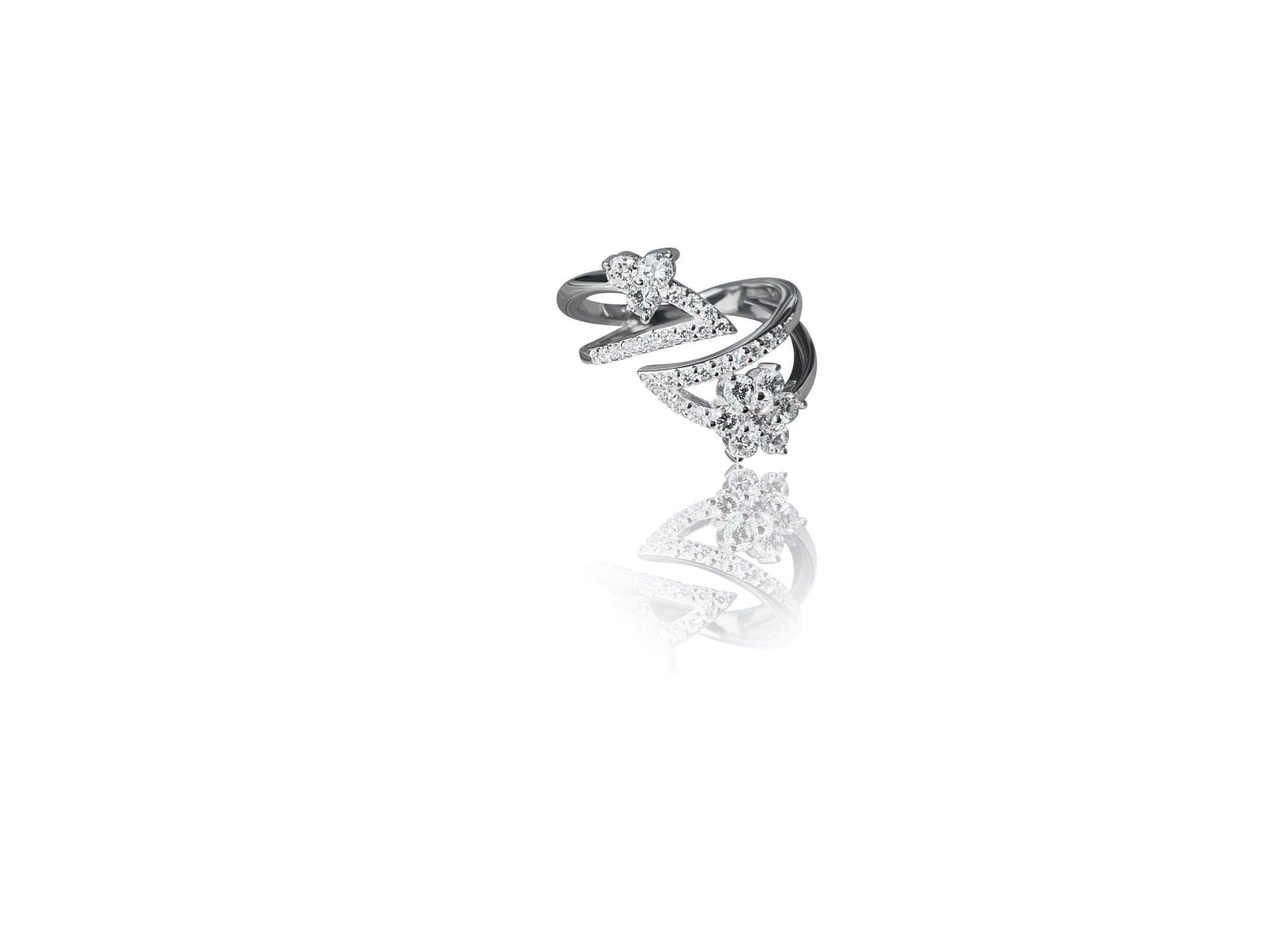 wit gouden ring diamanten uniek goudsmid