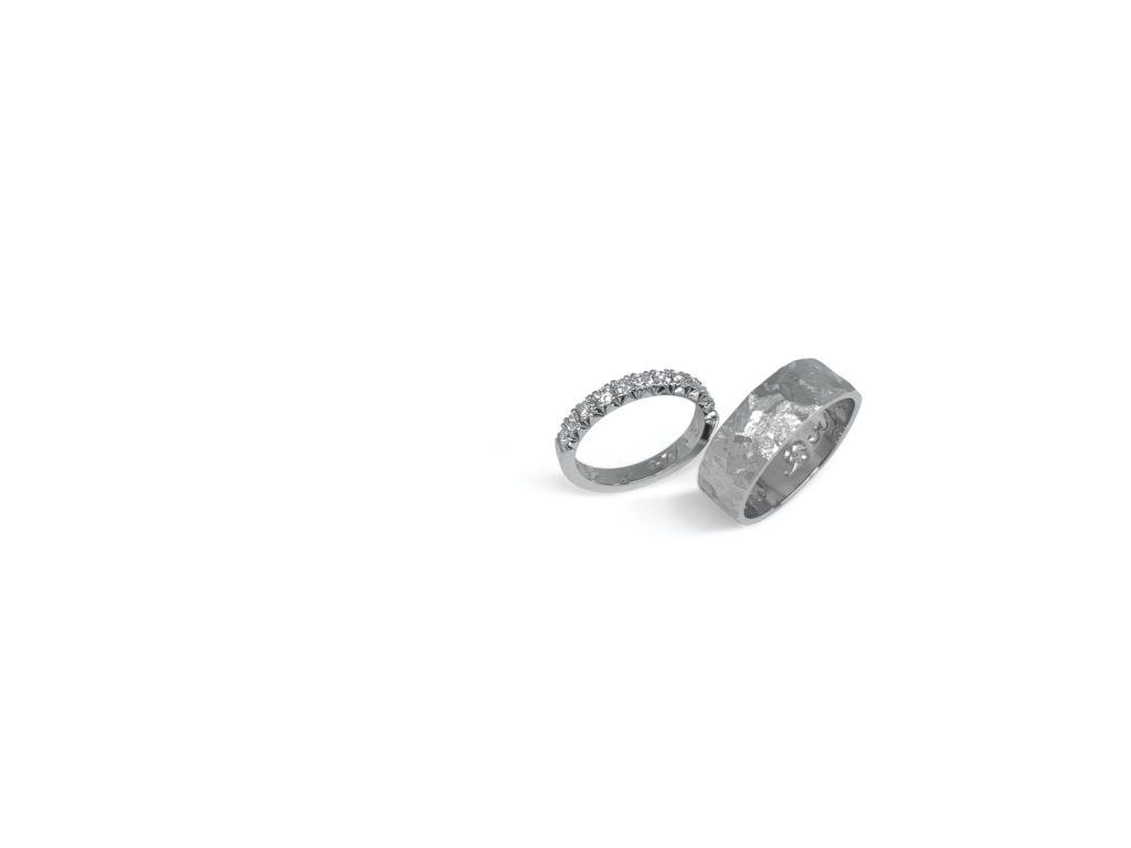 Platina trouwringen wit gouden ringen diamanten