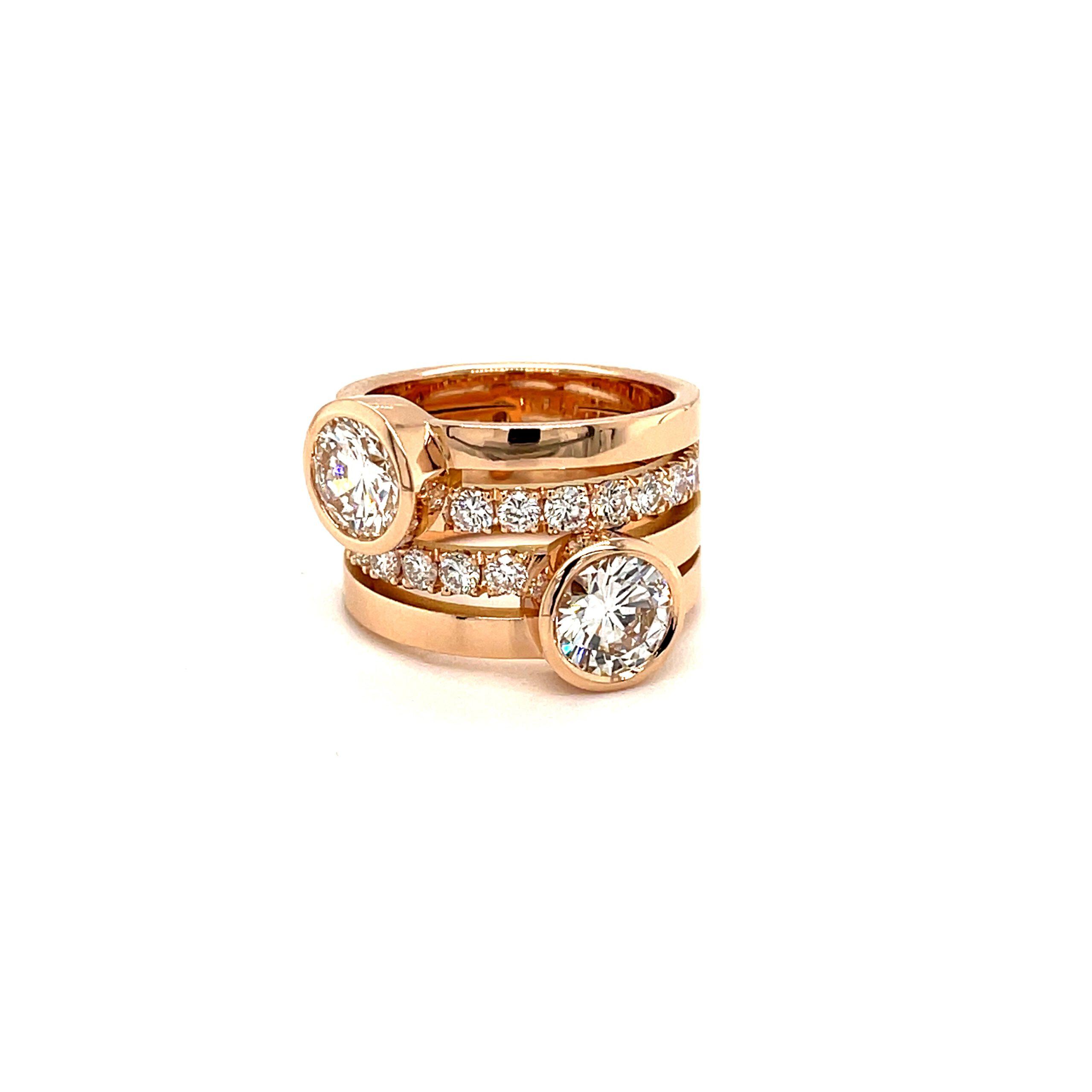 roze ring diamanten goudsmid